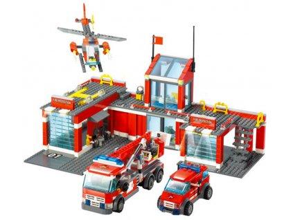 Stavebnice hasičská stanice typ Lego