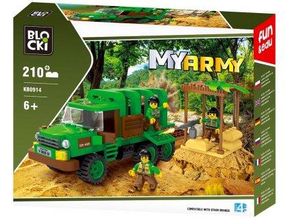 Stavebnice vojenská jednotka džungle typ LEGO