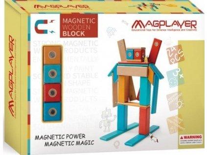 Dřevěná magnetická stavebnice Magplayer