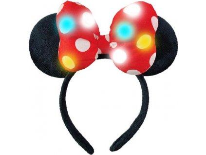 Čelenka Minnie Mouse s LED světélky