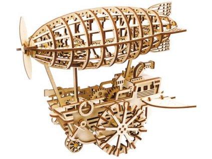 3D dřevěný mechanický puzzle Vzducholoď