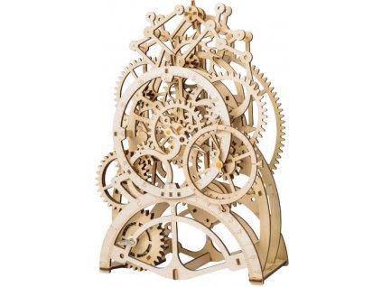 3D dřevěný mechanický puzzle Hodiny s kyvadlem