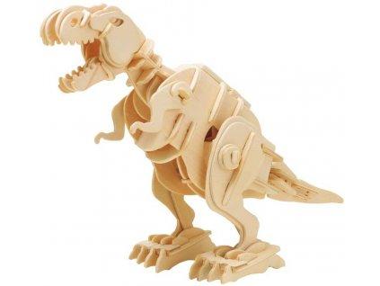 3D dřevěné puzzle Tyrannosaurus Rex chodící se zvuky