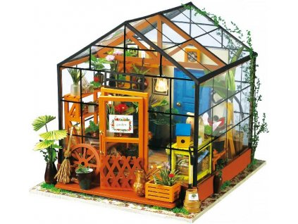 Stavebnice miniaturní domeček - Skleník miniatura LED DIY