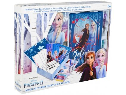 Deník - diář Frozen 2 se zamykacím boxem