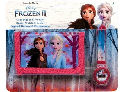 Dětská peněženka a hodinky Frozen 2