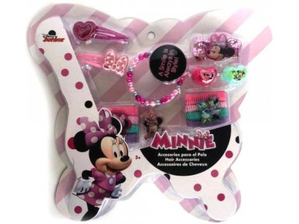 Vlasová sada a bižuterie Minnie Mouse
