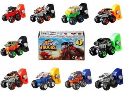 Hot Wheels Monster Truck autíčko na vystřelovací klíček - krabička s překvapením