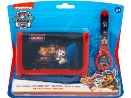 Dětská peněženka a hodinky Paw Patrol