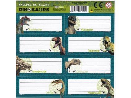Samolepky na sešity Dinosauři