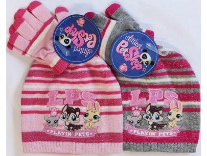 Čepice rukavice Littlest Pet Shop LPS sada 2ks