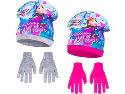 Čepice rukavice Frozen