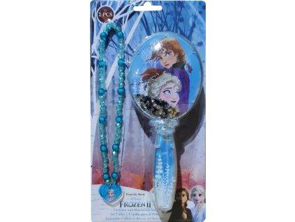 Hřeben kartáč náhrdelník Frozen 2