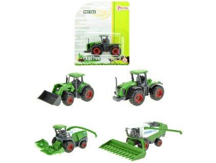 Traktor kombajn kovový