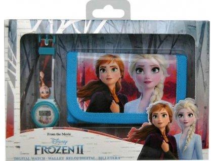 Dětská peněženka a hodinky Frozen