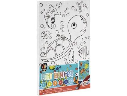 Malování podle čísel pro děti - Želva