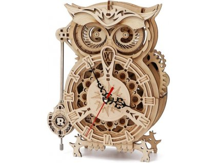 3D puzzle dřevěný hodiny