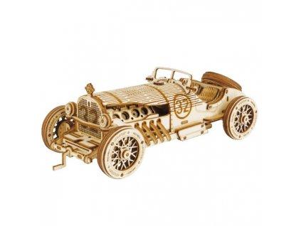 3D dřevěné puzzle Závodní veterán Grand Prix car