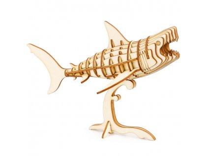 3D puzzle dřevěný Žralok