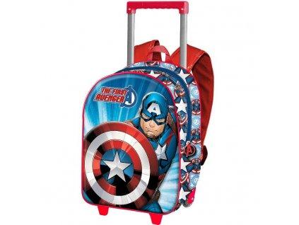 Batoh na kolečkách Avengers Captain America 3D 34cm