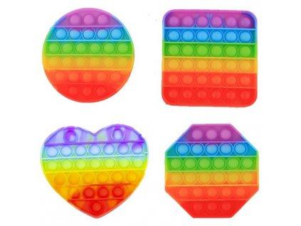 Pop it Rainbow antistresová hračka mix