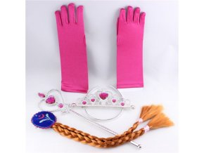 Set frozen čelenka, hůlka, rukavice, cop