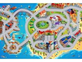 Hrací koberec Město s pláží