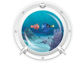 3D Samolepka na zeď ponorka okno podmořský svět Nemo Dory