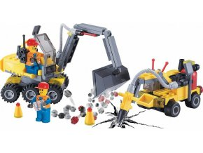 Stavebnice buldozer sbíječka Lego