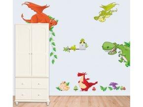 Samolepka na zeď dinosauři a draci