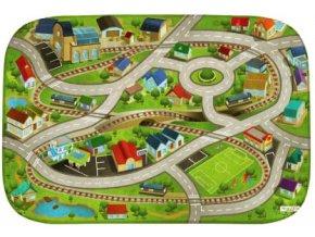 Hrací koberec Ultra Soft Vlakové nádraží a městečko
