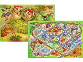 Hrací koberec Farma / Město oboustranný