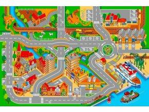 Hrací koberec Přístav město