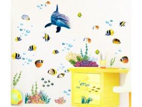 Samolepka na zeď mořský svět