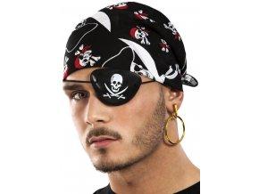 Pirátská páska na oko + náušnice