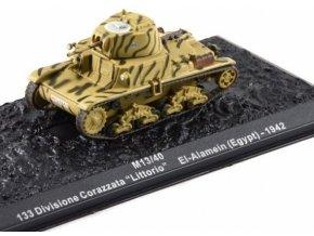 Model Tank Fiat M13/40 kovový