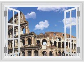 3D samolepka na zeď okno Koloseum
