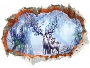 3D samolepka na zeď Magický les