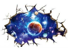 3D samolepka na zeď vesmír