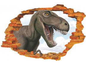 Samolepka na zeď dinosauři jurský park tyrannosaurus rex