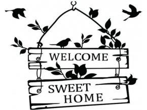 Samolepka na zeď Home Sweet Home