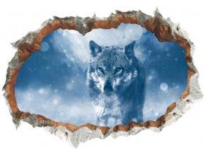 3D samolepka na zeď vlk