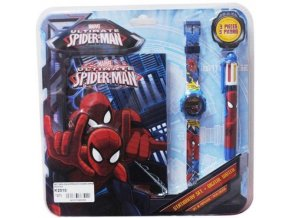 Sada hodinky propiska diář Spiderman