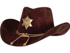 Kovbojský klobouk - šerif