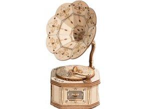 3D puzzle dřevěný gramofon