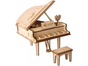 3D dřevěný puzzle Grand piano