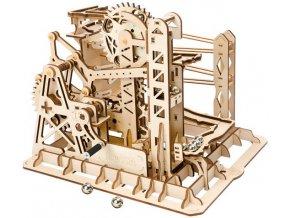 3D dřevěné mechanické puzzle Kuličková dráha
