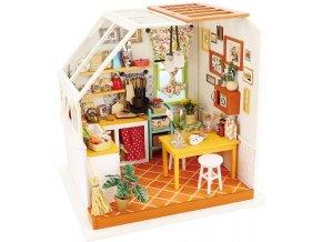 Stavebnice miniaturní domeček - Kuchyně miniatura LED DIY