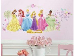 Samolepka na zeď Disney Princess princezny