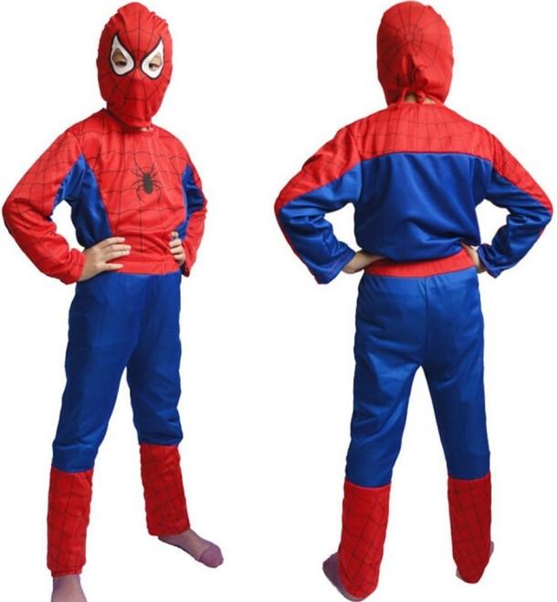 Dětský kostým Spiderman 3 dílný set vel. S-L červeno-modrý S